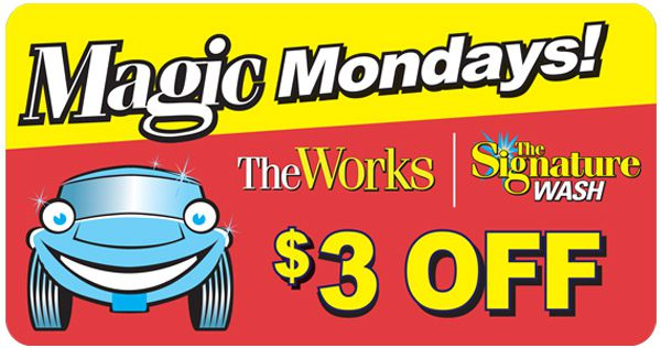 Car Wash Coupon- Magic Mondays