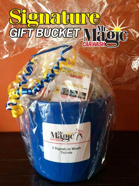 Car wash gift bucket